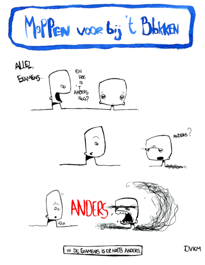 blokken studeren examens