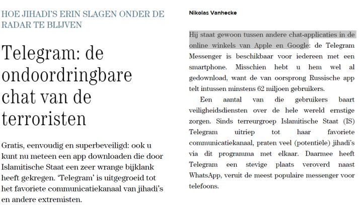 Nikolas Vanhecke De Standaard inlichtingendiensten justitie journalist Vlaamse nikolasvh